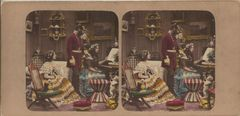 Early English Genre Stereoview