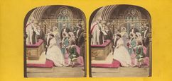 Stereoview of Early English Genre - Wedding